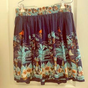 Tommy Hilfiger Island & Floral Print Skirt Size XL